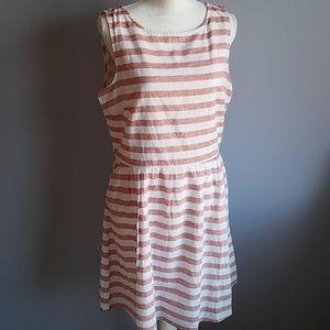 BeachLunchLounge Striped Linen Blend Dress
